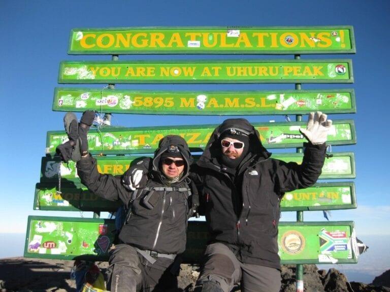 Zispa på toppen af Kilimanjaro